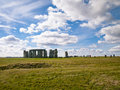 distant shot of stonehenge