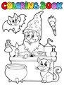 Coloring book alchemist theme 1