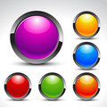 shiny web buttons vector set