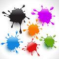 colorful paint splashes set 3