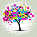 stylish vector tree