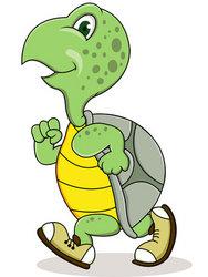 Turtle Running Stock Vector