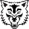Wolf face tattoo