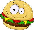 Burger cartoon character