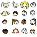 faces of cartoon kids