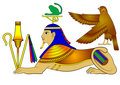 vector Sphinx - mythical creatures of ancient Egypt