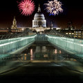 St. Paul's Cathedral and Fireworks