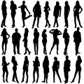 24  people silhouettes
