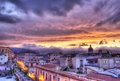 Palermo view at sunset in hdr.Sicily
