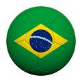 Brazil  Flag Pattern 3d rendering of a soccer ball