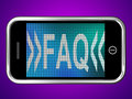 Faq Message On Mobile Phone For Help
