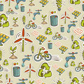 Ecology icons pattern