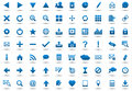 Set of blue navigation web icons