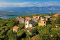 Adriatic Town of Dobrinj view