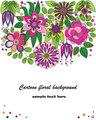 Decorative colorful cartoon flower illustration