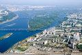 Kyiv city - aerial view.