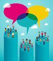 Social network people global viral communication