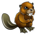 Happy Cartoon Beaver