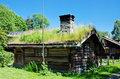 Ancient 18th century Norwegian houses