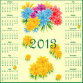 Calendar 2013 with flowers