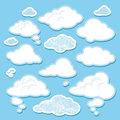 vector set of cartoon clouds