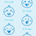 It's a boy blue seamless background with baby boys