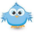 Cartoon blue sparrow