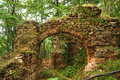 Ancient roman fortress gate ruin