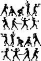 Baseball or Softball Silhouettes Kids Boys and Girls