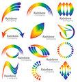 Rainbow logo vector collection