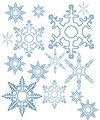 different snowflakes mix background