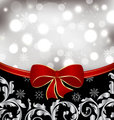 Christmas floral background, ornamental design elements