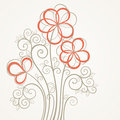 Abstract flower card