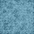 Vintage Blue Floral Tapestry Pattern