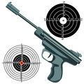 firearm, the gun against the target. vector