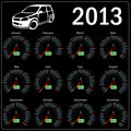 2013 year alendar speedometer car in .