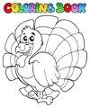 Coloring book happy turkey