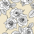 Seamless wallpaper with rose flowers