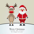 reindeer and santa claus