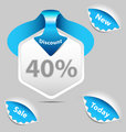 40 percent Discount sale labels set