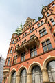 Historic building in the Speicherstadt in Hamburg