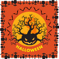 Halloween RIP border background orange