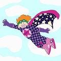 Cheerful super hero