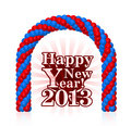 vector illustration of happy new year 2013
