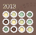 2013 calendar in flower form