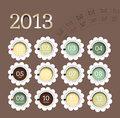 2013 calendar in flower form