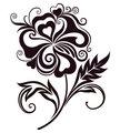 Abstract flower line-art