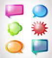 Color hand drawn speech bubbles