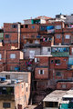 Shacks in the slum in Sao Paulo