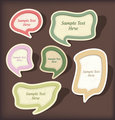 Speech bubbles vector scrapbook set